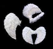 White angel wings royalty free stock image