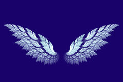 White angel wings made with fractal stock illustration