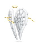 White angels wings Royalty Free Stock Photography