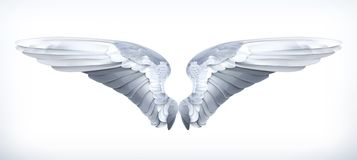 White angels wings Stock Photos
