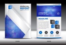White Annual report template,White cover design,brochure fl yer, Stock Photography