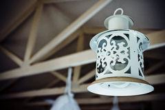 White Antique Lantern Stock Image