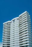 White apartment-building. Tall, white apartment-building Royalty Free Stock Photography