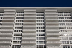White apartment building Stock Photography