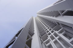 White apartment building Royalty Free Stock Photography