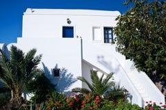 White Apartment in Greece Stock Photo
