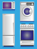 White appliances Royalty Free Stock Photos
