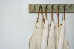 White apron clothes hang Royalty Free Stock Image