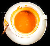 White arabica cup of coffe in the morning Royalty Free Stock Image