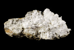 White aragonite. Rich sample of rare floss ferri type aragonite Royalty Free Stock Images