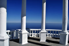 White arbour with the columns Royalty Free Stock Photos