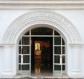 White arch, classic door Royalty Free Stock Photo