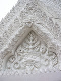 The white arch at Marble temple, Bangkok Thailand.ฟพแ้ Royalty Free Stock Image