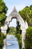 White arch statue Stock Image
