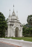 White arch in Temple, Chiang mai Stock Photos