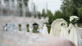 White arch for wedding stock video footage