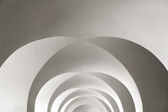 White arched ceiling with geometric shadows as background Royalty Free Stock Photography