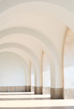 White arched pathway Royalty Free Stock Photo