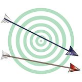 White archery background Royalty Free Stock Image