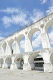 White Arches at Arcos da Lapa Rio de Janeiro Brazil Stock Image
