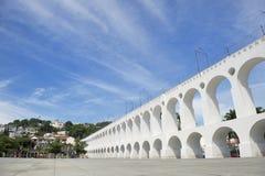 White Arches at Arcos da Lapa Rio de Janeiro Brazil Royalty Free Stock Photos