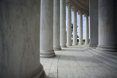 White Architectural Columns Stock Photo