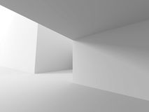 White Architecture Background. Modern Futuristic Building Exteri Royalty Free Stock Photo