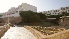 White architecture of beautiful Egyptian hotel stock video