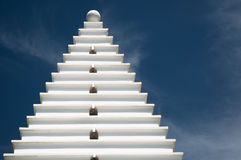 White Architecture on Blue, Horizontal Royalty Free Stock Photos