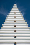 White Architecture on Blue, Vertical Stock Photography