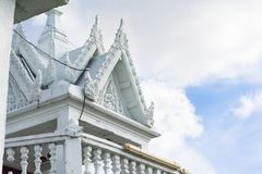 White temple. White architecture building temple in thai Royalty Free Stock Image