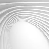 White Architecture Circular Background. Abstract Tunnel Design. Stock Images