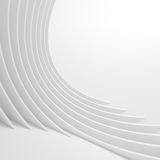 White Architecture Circular Background. Abstract Tunnel Design. Stock Photos