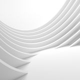 White Architecture Circular Background. Modern Building Design Royalty Free Stock Photography