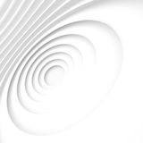 White Architecture Circular Background. Modern Building Design Royalty Free Stock Image