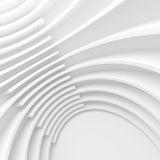 White Architecture Circular Background. Modern Building Design Stock Images
