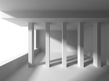 White Architecture Construction Modern Interior Background. 3d Render Illustration stock illustration