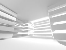 White Architecture Construction Modern Interior Background. 3d Render Illustration Royalty Free Illustration