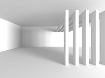 White Architecture Construction Modern Interior Background Royalty Free Stock Images