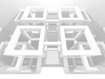 White Architecture Construction Modern Interior Background Royalty Free Stock Photography