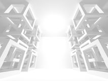 White Architecture Construction Modern Interior Background Stock Photo