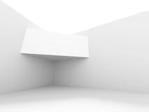White Architecture Design. Modern Building. 3d Render Illustration Royalty Free Stock Photos