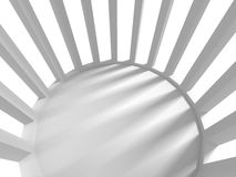 White Architecture Geometric Background. 3d render illustration Royalty Free Stock Photos