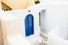 White architecture in Greece. White architecture on Santorini island, Greece Royalty Free Stock Images