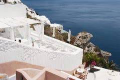 White architecture of Oia village on Santorini, Greece Stock Photography