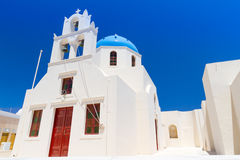 Architecture of Oia village on Santorini island Royalty Free Stock Photography