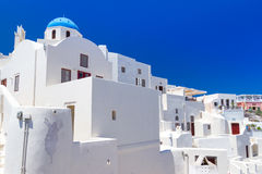 Architecture of Oia village on Santorini island Royalty Free Stock Image