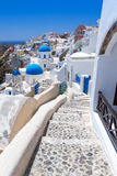 Architecture of Oia village on Santorini island. White architecture of Oia village on Santorini island, Greece Stock Photo