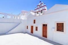 Architecture of Oia village on Santorini island. White architecture of Oia village on Santorini island, Greece Royalty Free Stock Photos