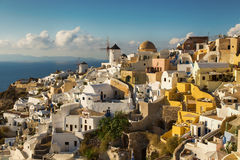 White architecture of Oia village on Santorini island, Greece. White architecture of Oia village on Santorini island Stock Image